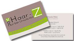 Printdesign Visitenkarten Erstellen Für Friseur Kosmetik