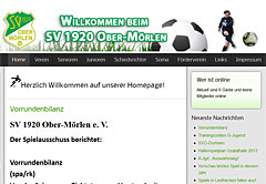 Screenshot Webdesign-Referenz Joomla Migration für SV Obermörlen